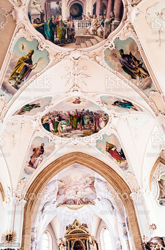 Kitzbuhel Church, Austria stock photo