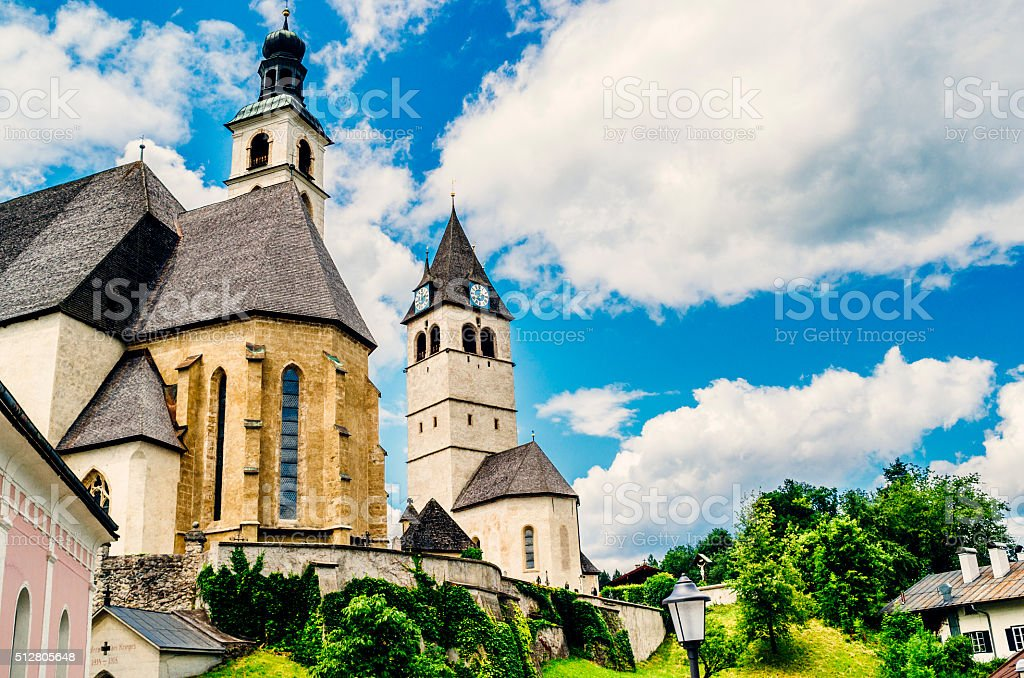 Kitzbuhel Church of our Lady stock photo