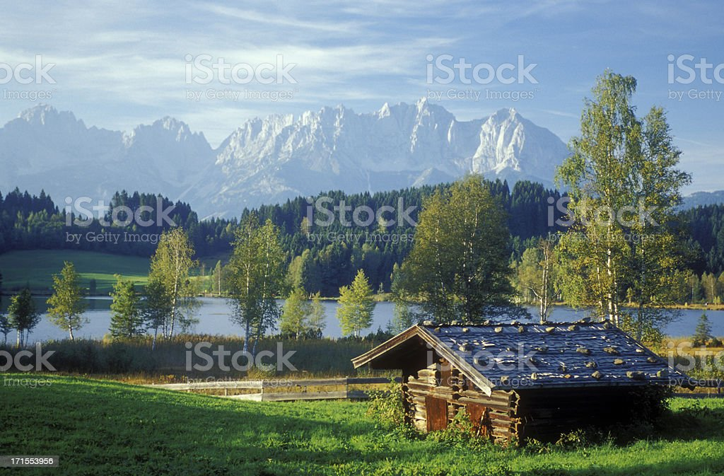 Kitzbuhel hut stock photo