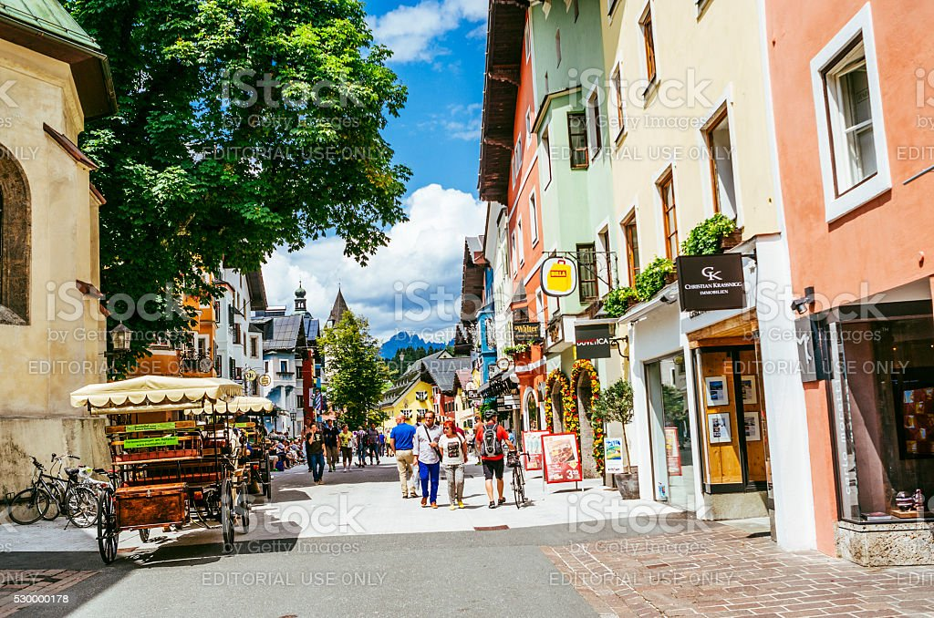 Kitzbuhel town, Austria stock photo