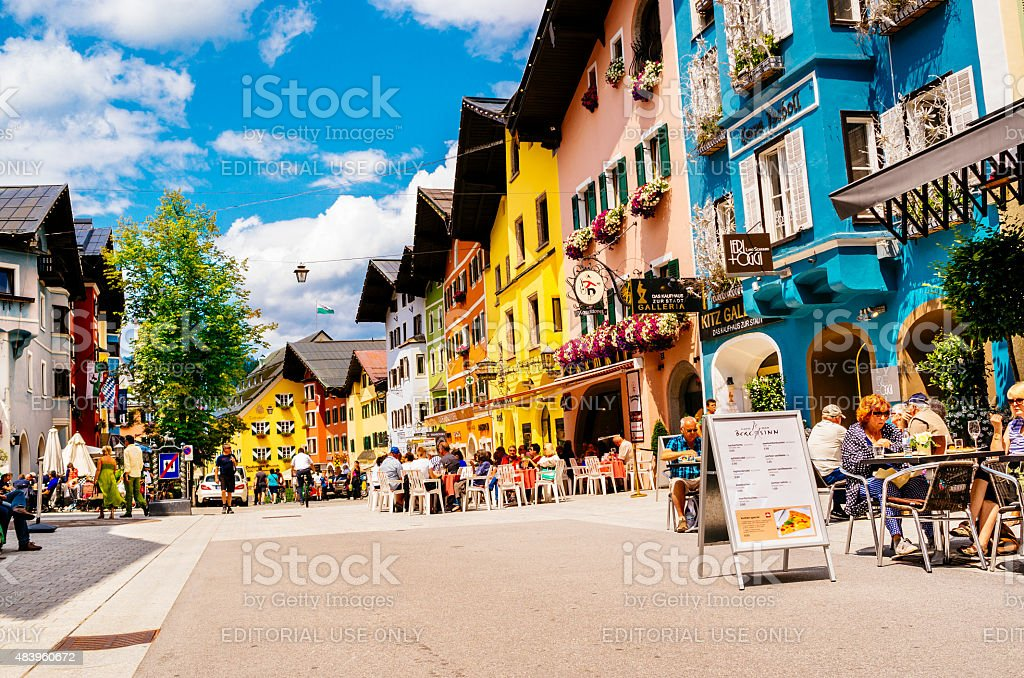 Kitzbuhel town stock photo
