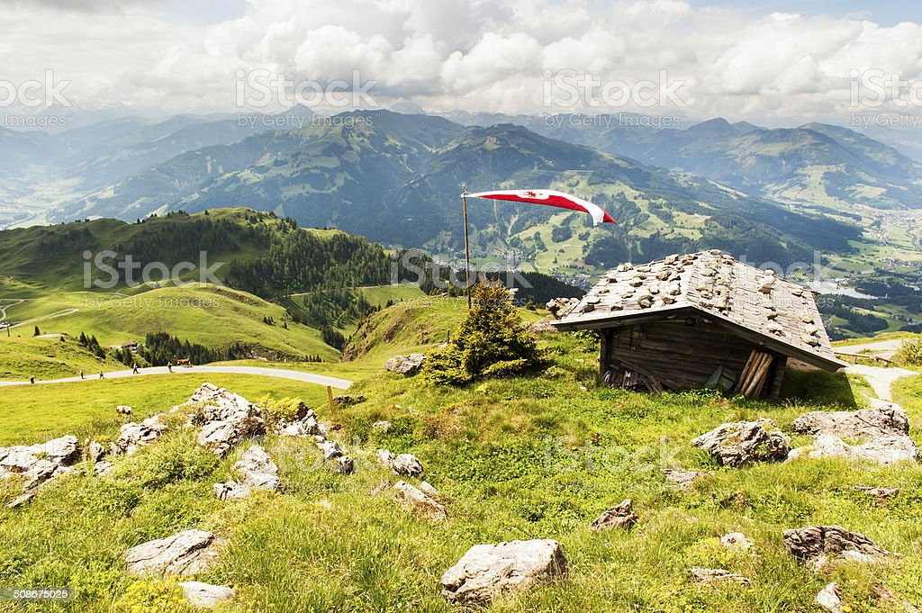 Kitzbuheler Horn in Kitzbuhel, Austria stock photo