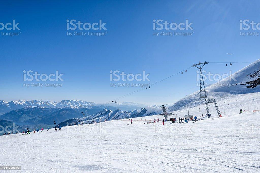 Kitzsteinhorn Glacier Skiing Paradise stock photo