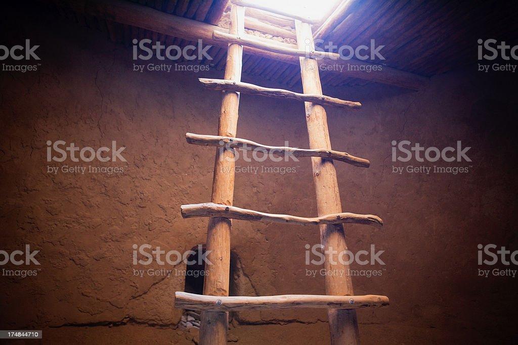 Kiva Interior - Bandelier National Monument royalty-free stock photo