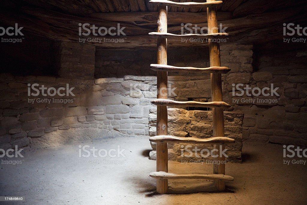 Kiva Interior - Mesa Verde National Park, Colorado stock photo