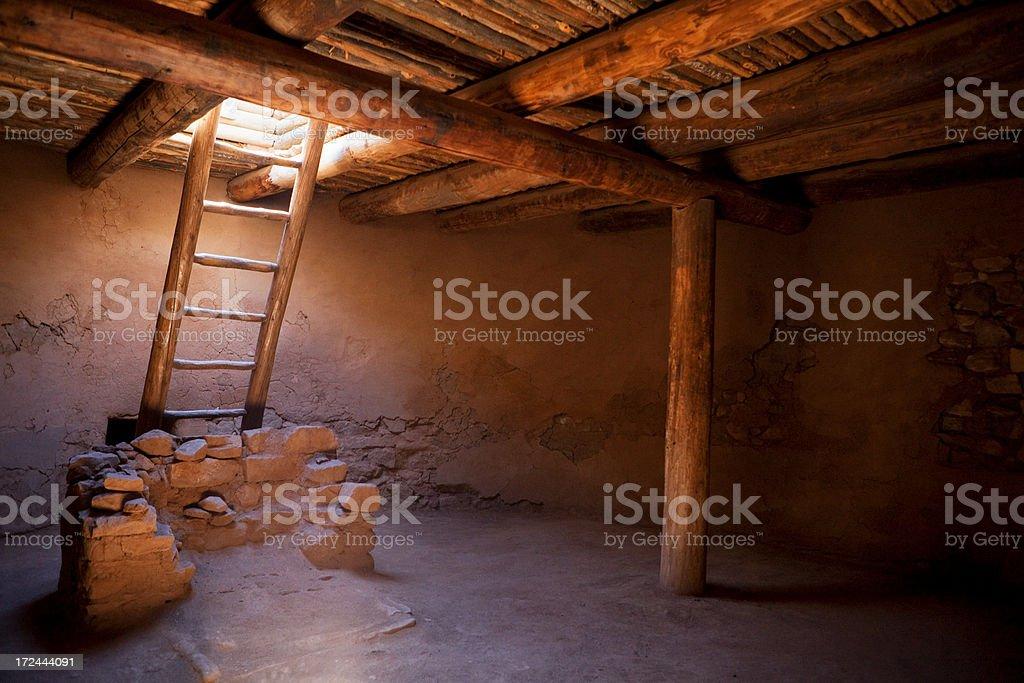 Kiva Interior - Pecos National Monument stock photo