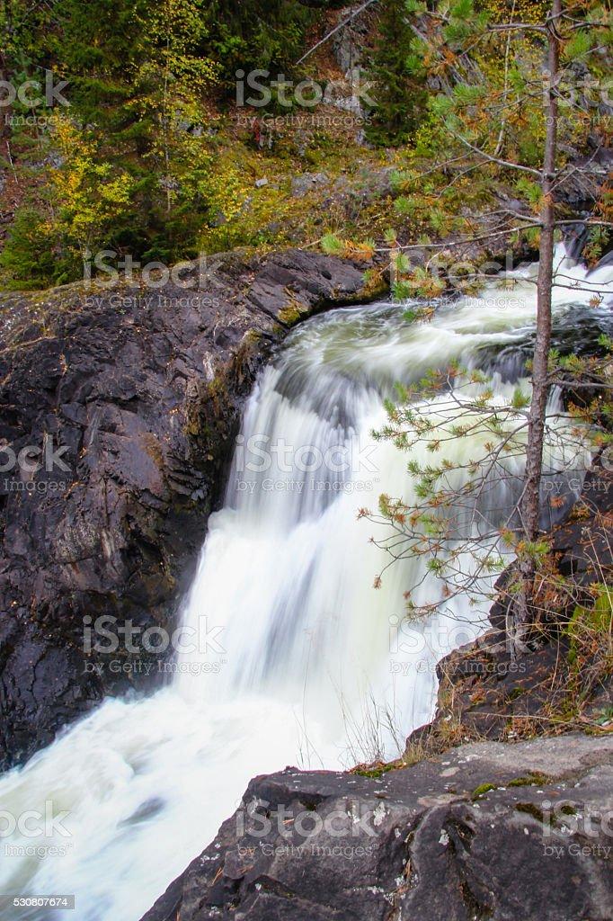 Kivach waterfall on the river Suna, Karelia, Russia stock photo