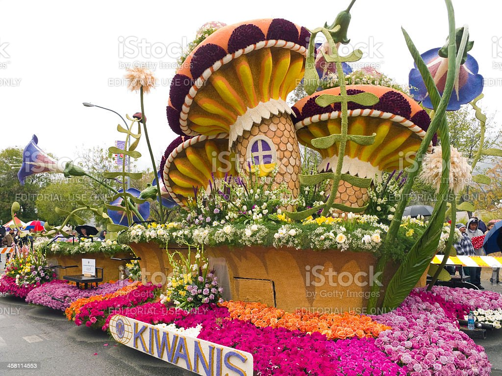 Kiwanis International Rose Parade Float stock photo