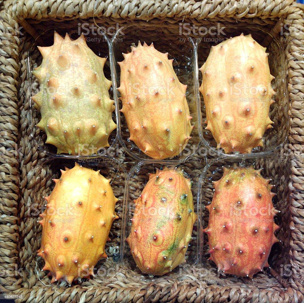 Kiwano - African Horned Melon stock photo