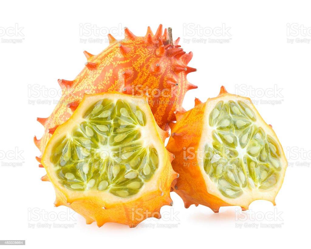 kiwano melons stock photo