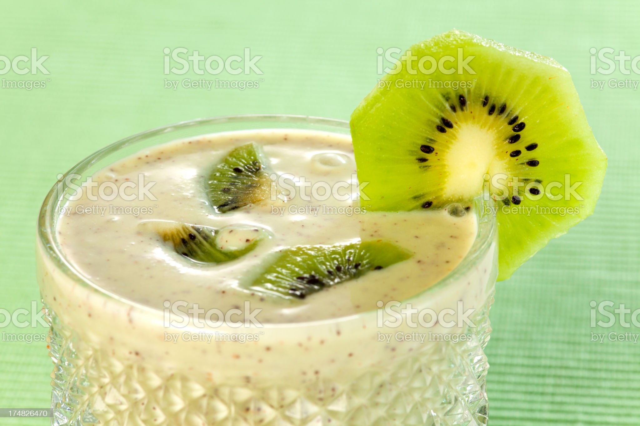 Kiwi and Banana Smoothie royalty-free stock photo