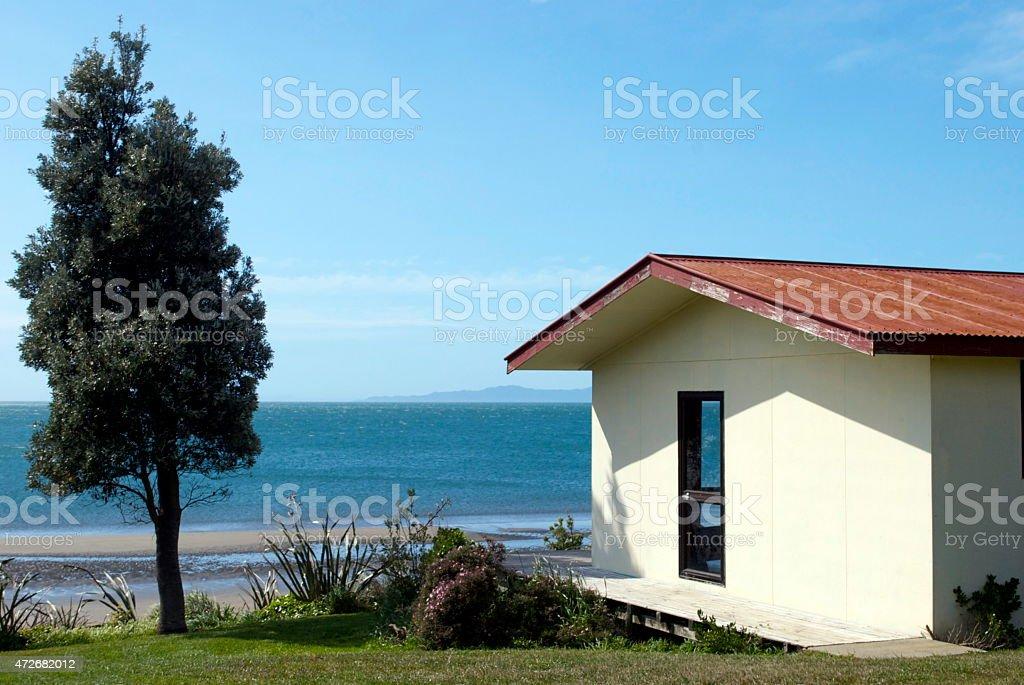 Kiwi Bach by the Beach stock photo