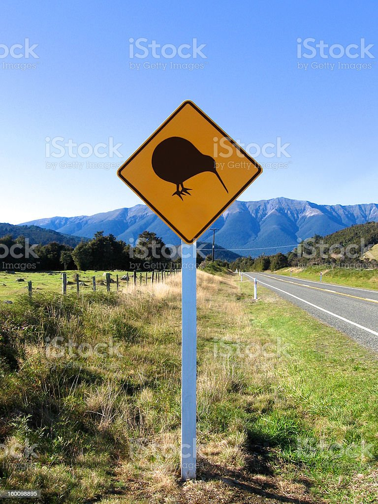 Kiwi Crossing royalty-free stock photo