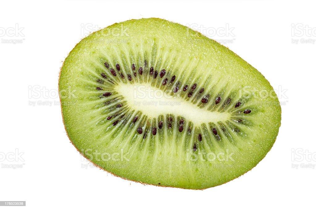 Kiwi fruit cross section. royalty-free stock photo