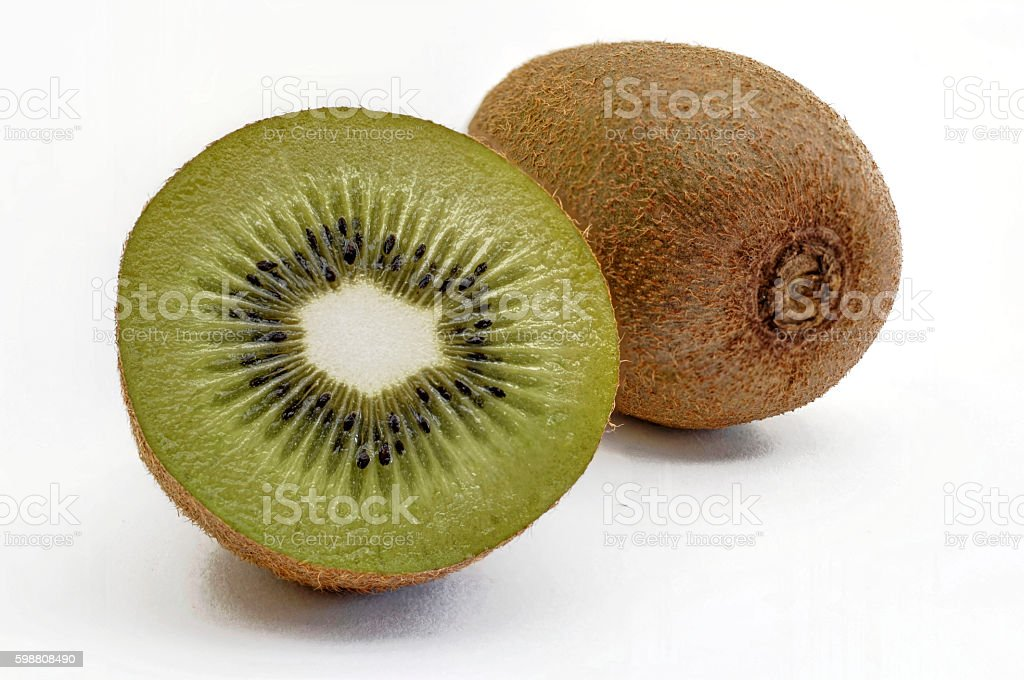 Kiwi fruit for cropping stock photo