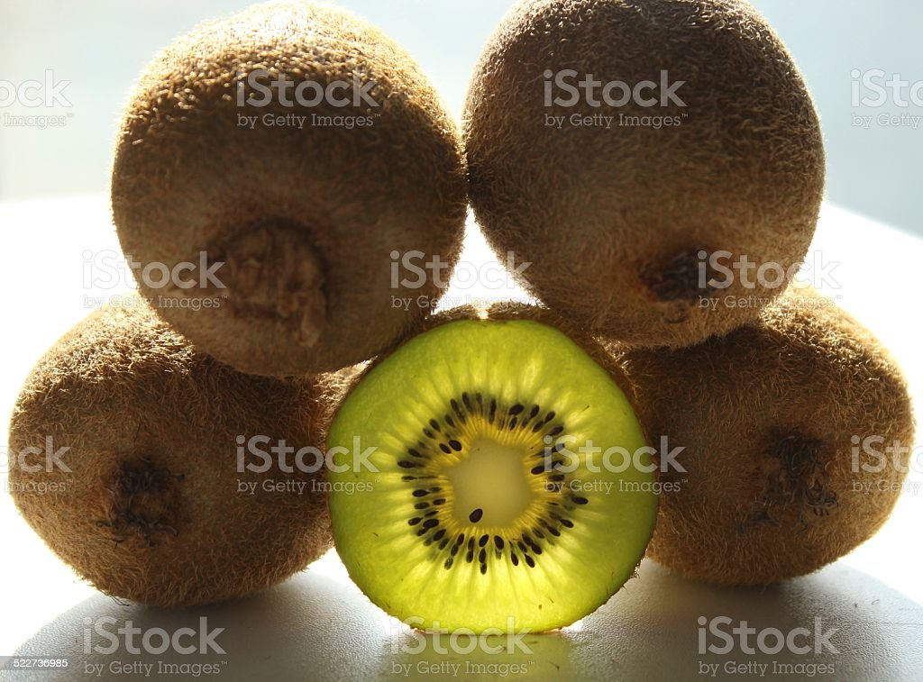 Kiwi Fruit Green Light stock photo