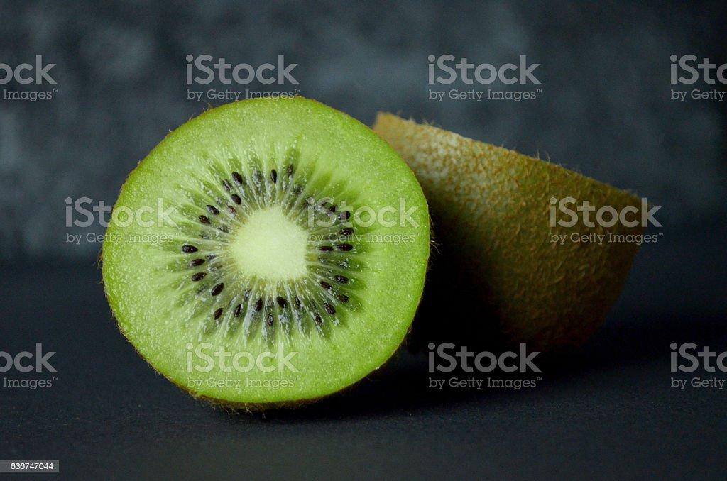 kiwi fruit macro abstract stock photo