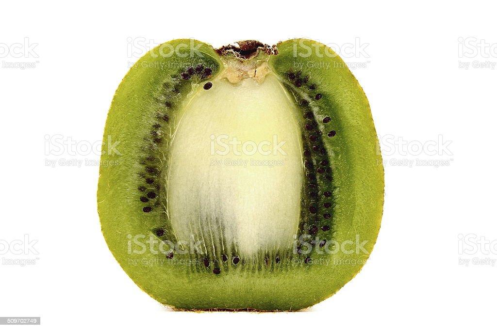 Kiwi fruit on white background stock photo