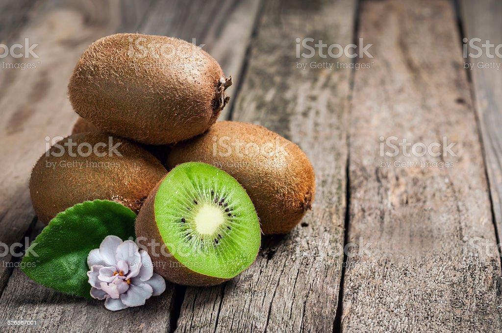 kiwi on table stock photo
