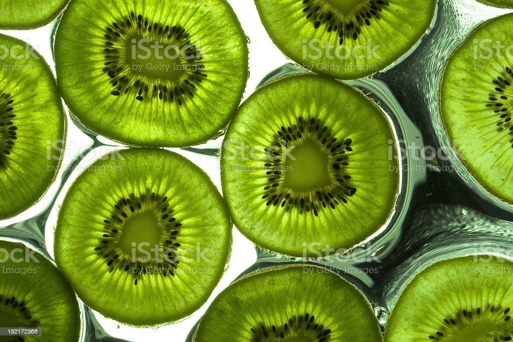 Kiwi auf nassen Oberflächen Lizenzfreies stock-foto