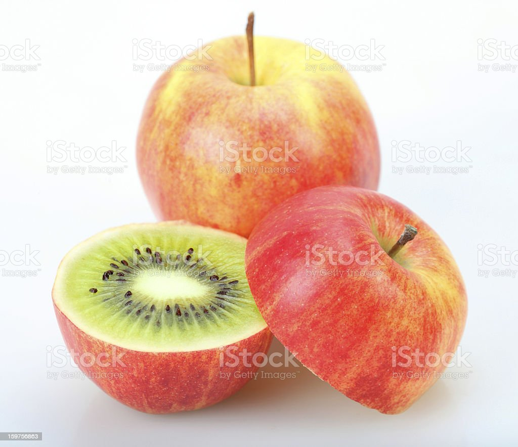 Kiwi or apple royalty-free stock photo