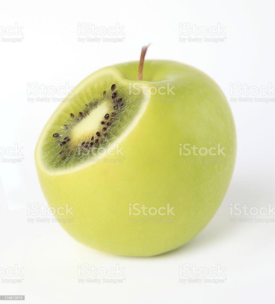 kiwi or apple royalty-free stock photo