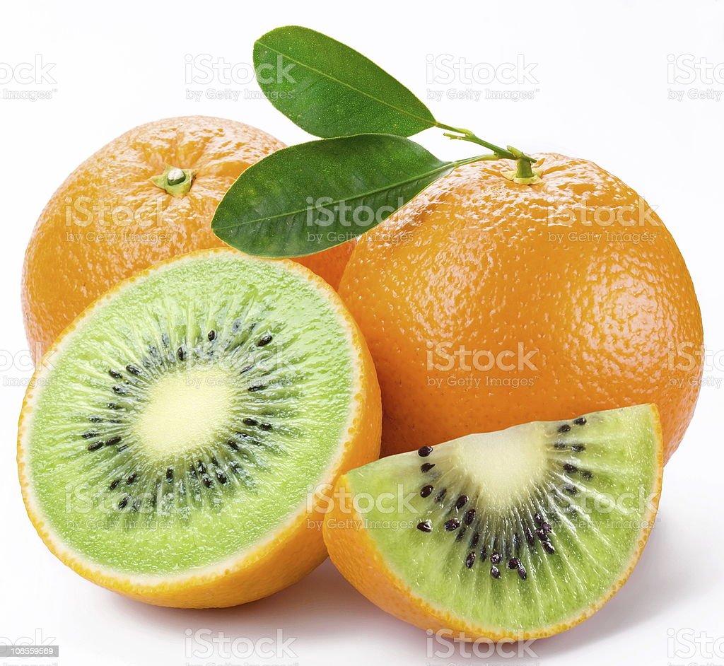 Kiwi or orange? royalty-free stock photo