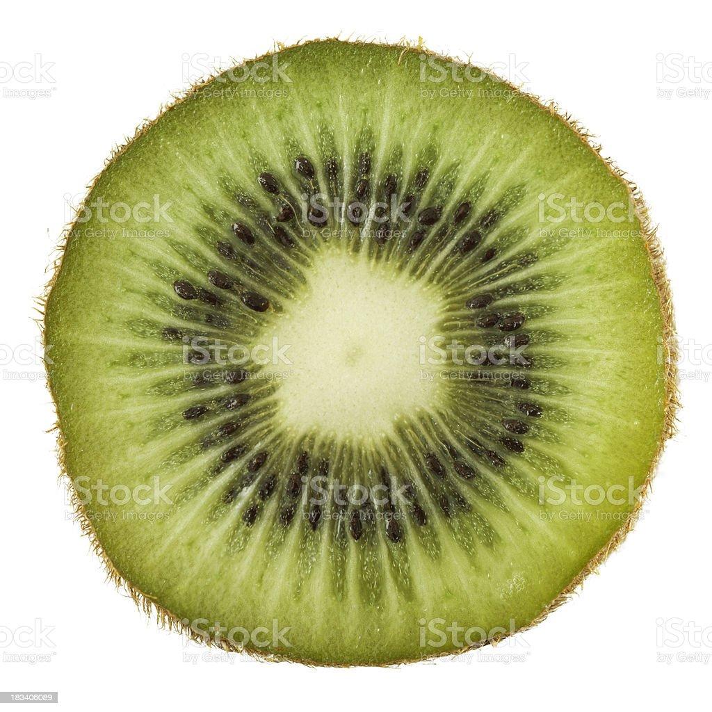 Kiwi portion on white stock photo