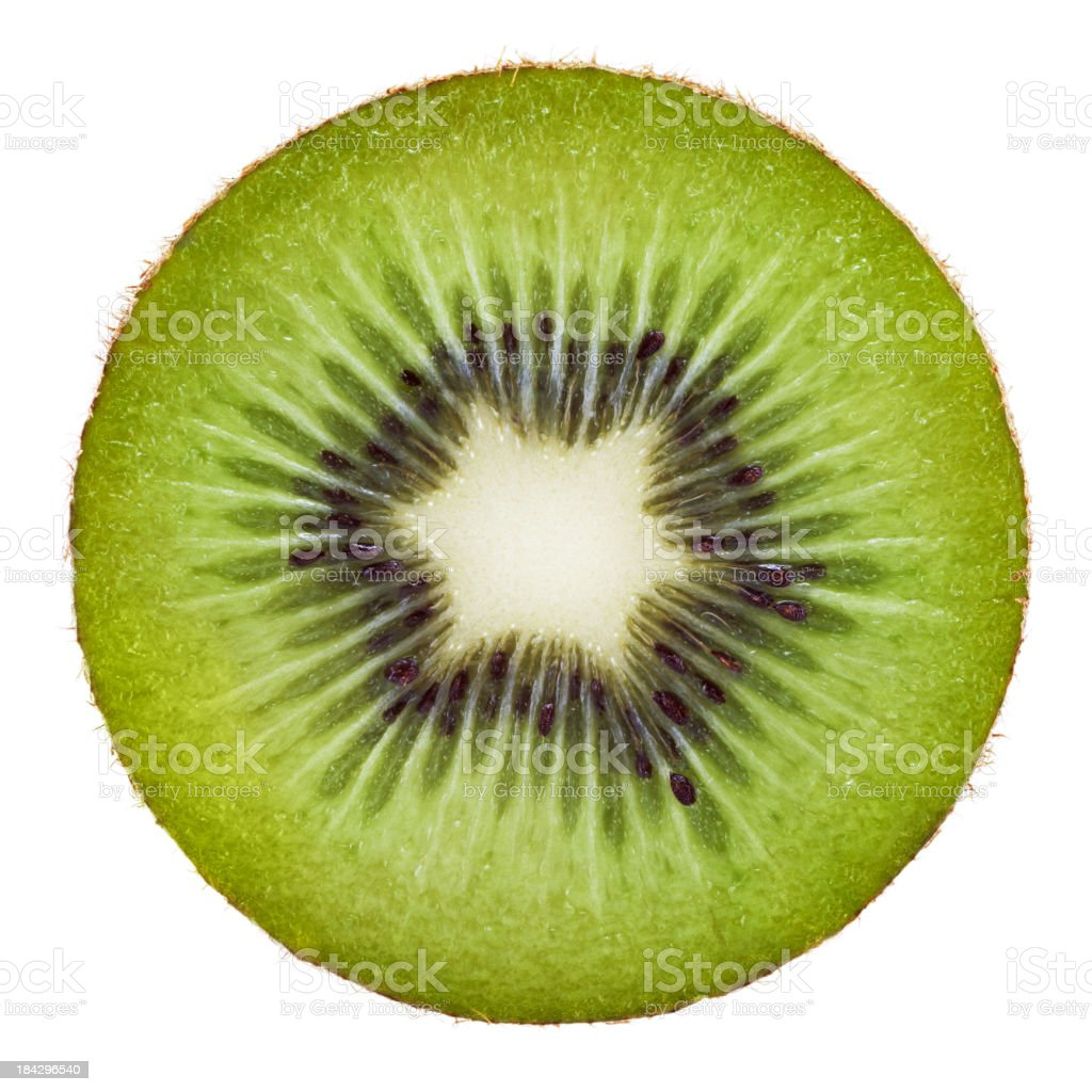 Kiwi portion on white stock photo