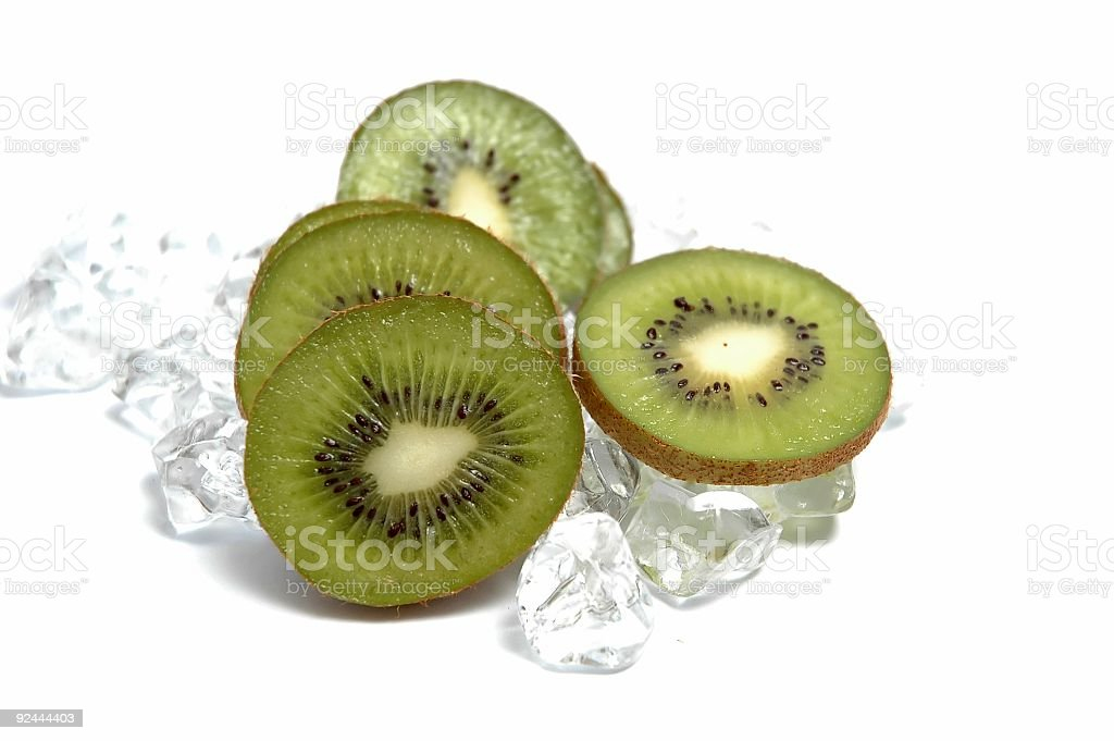 Kiwi slices royalty-free stock photo