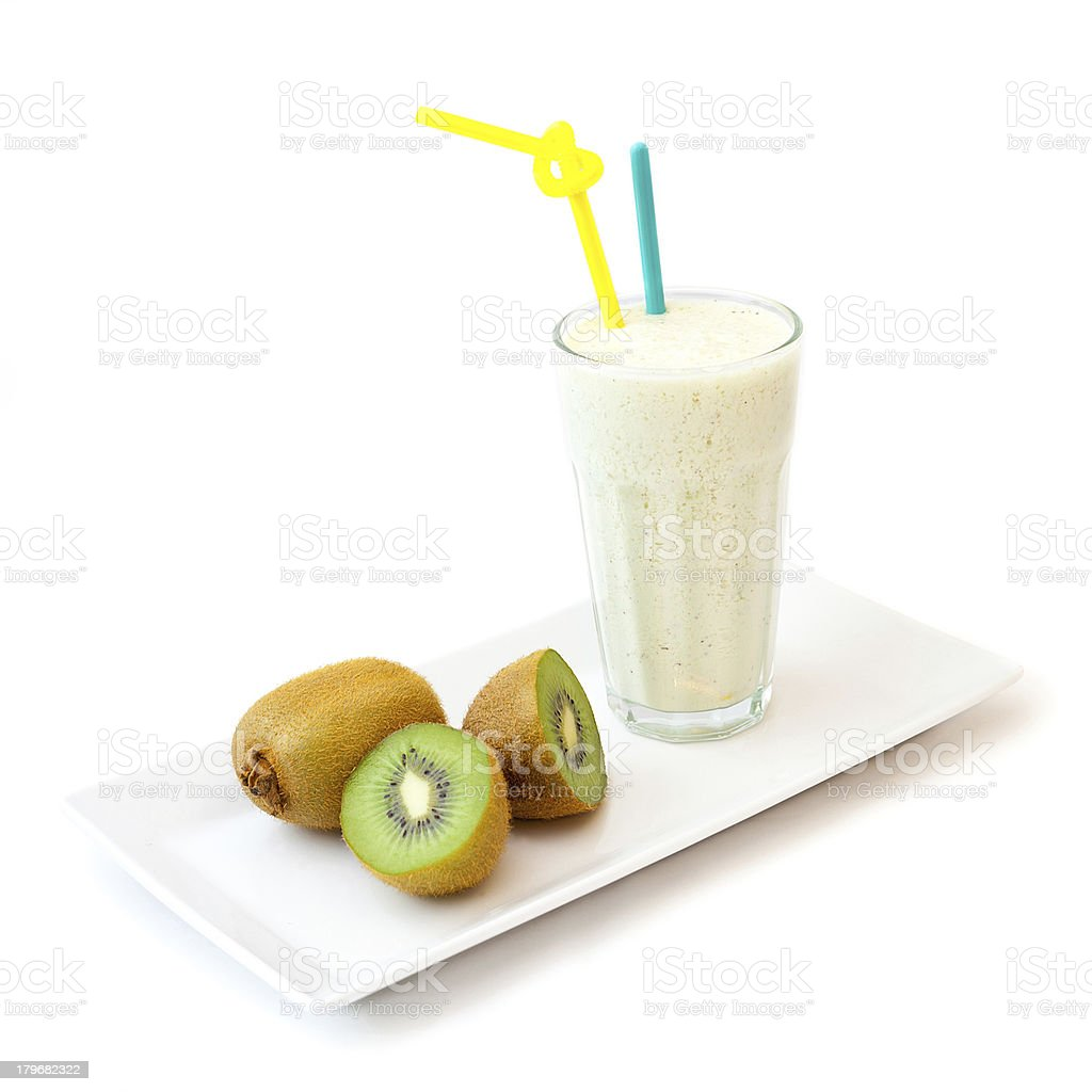 Kiwi smoothie royalty-free stock photo