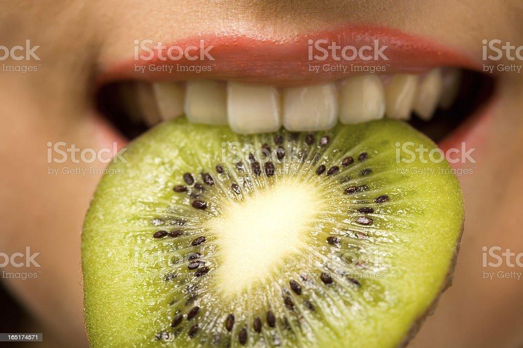 Kiwi taste stock photo