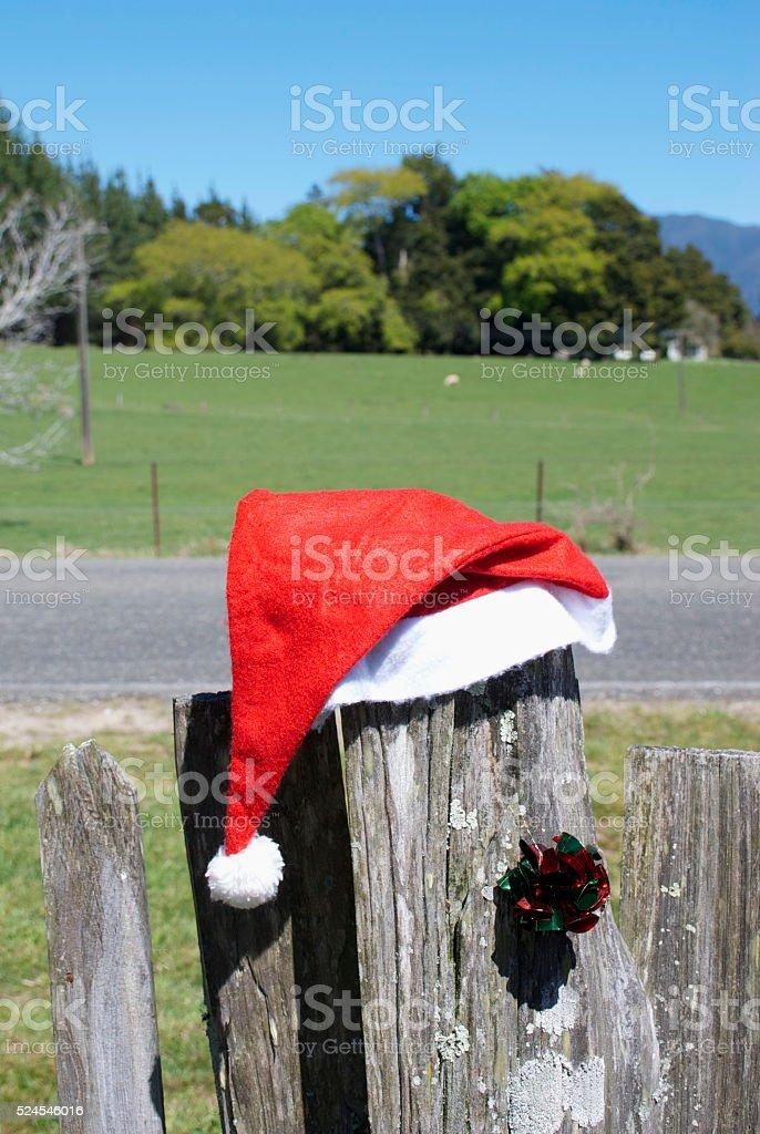 Kiwiana Rural Christmas Themed Image stock photo