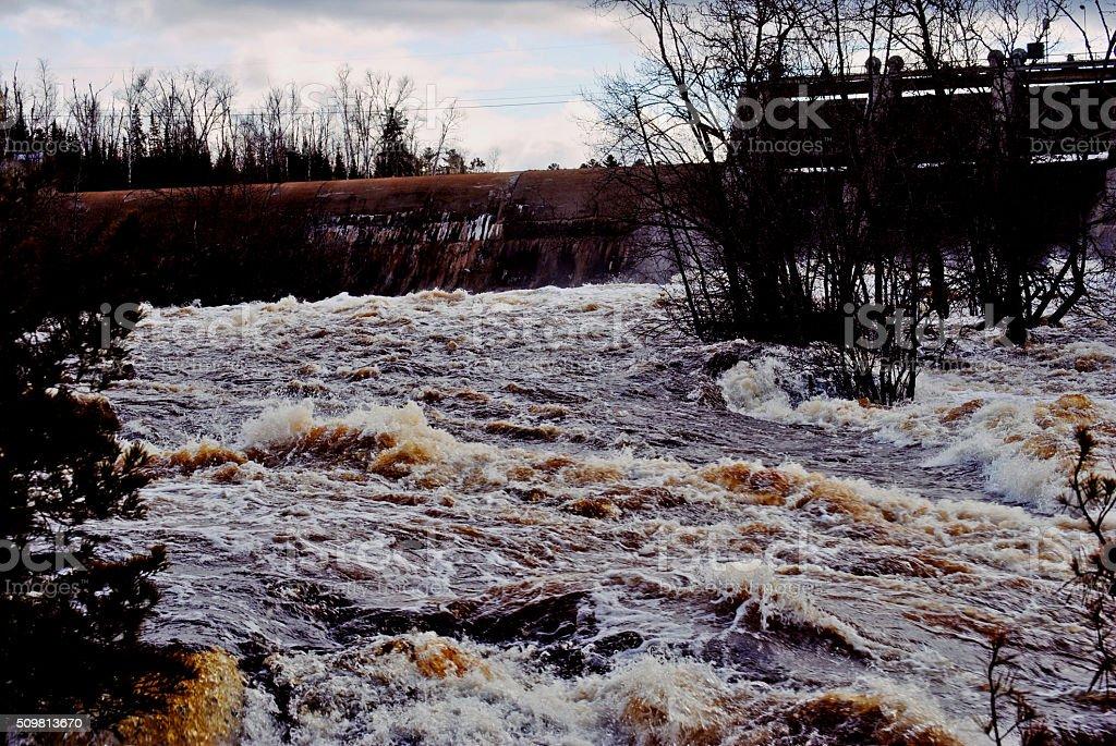 Kiwishiwi River Falls stock photo