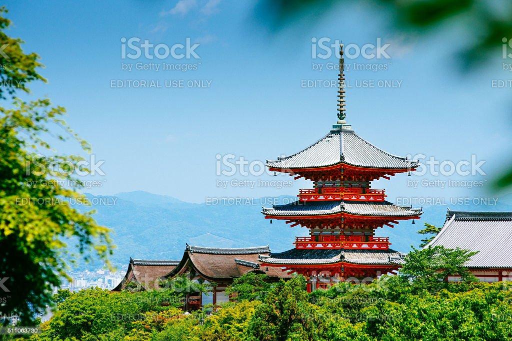 Kiyomizu-dera Kyoto Japan stock photo