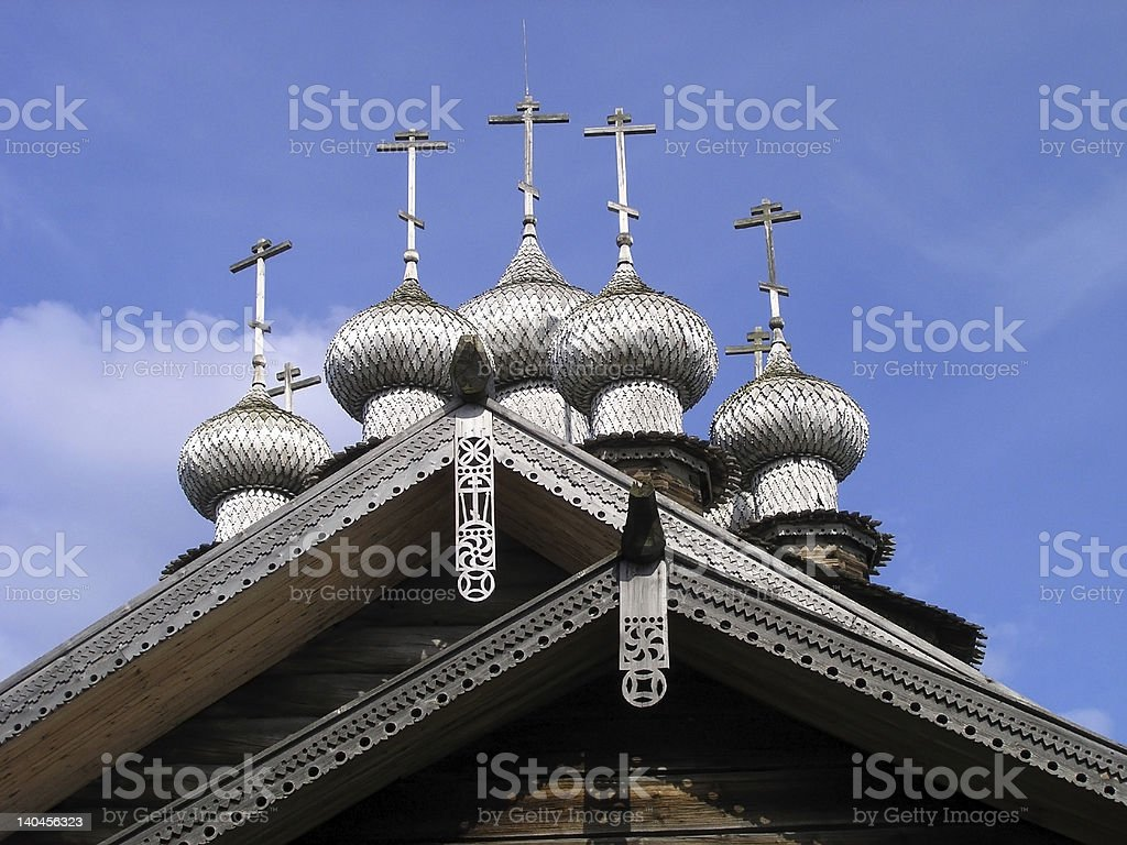 Kizhi Island Wooden Domes royalty-free stock photo
