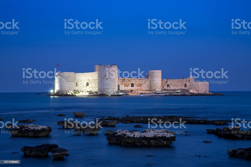 KIzkalesi Castle in Mersin, Turkey stock photo