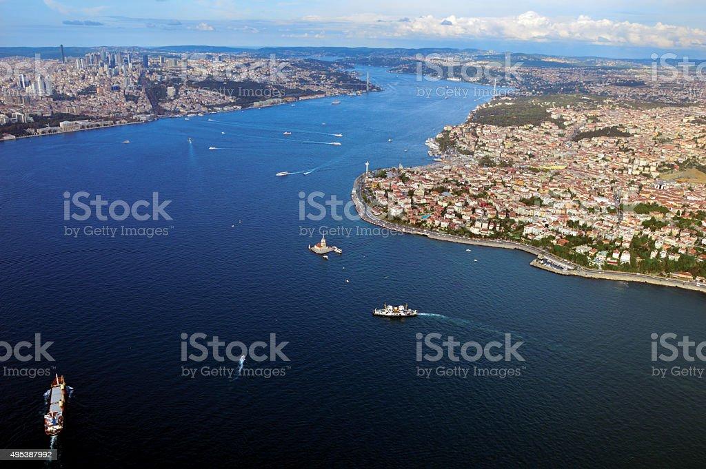 Kizkulesi,Salacak,Istanbul,Turkey stock photo
