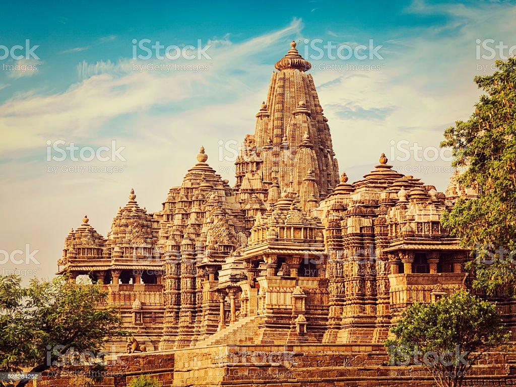 Kjaruharo temples, India stock photo