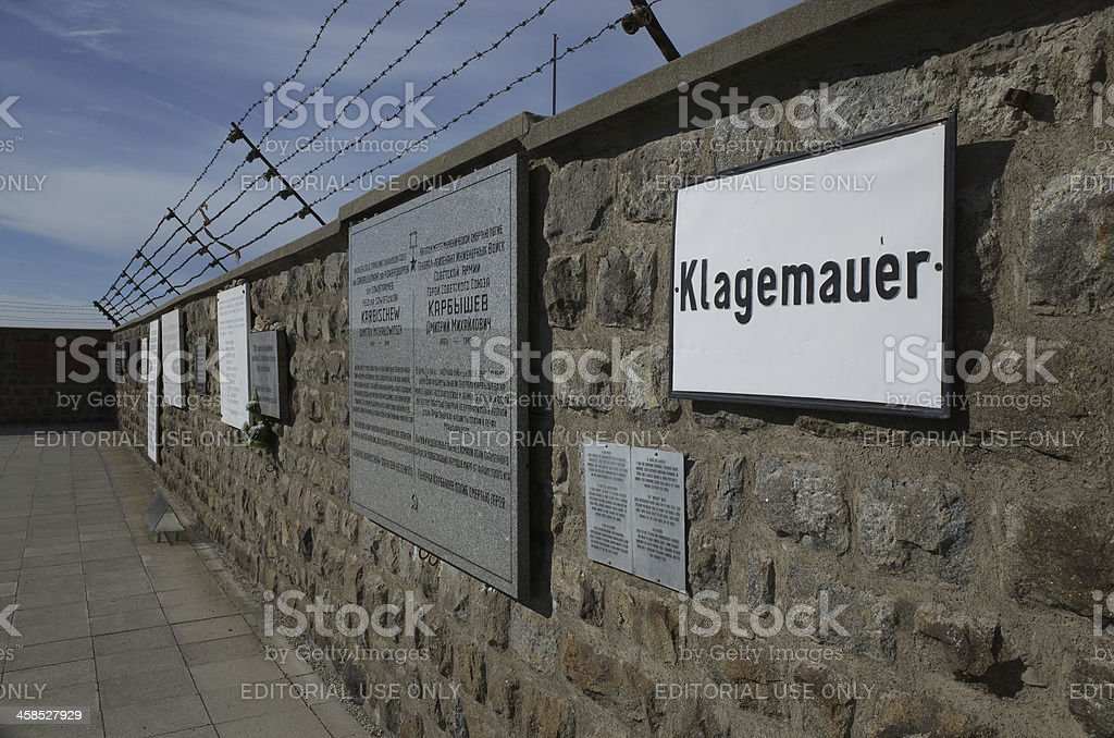 Klagemauer in Concentration Camp Mauthausen royalty-free stock photo