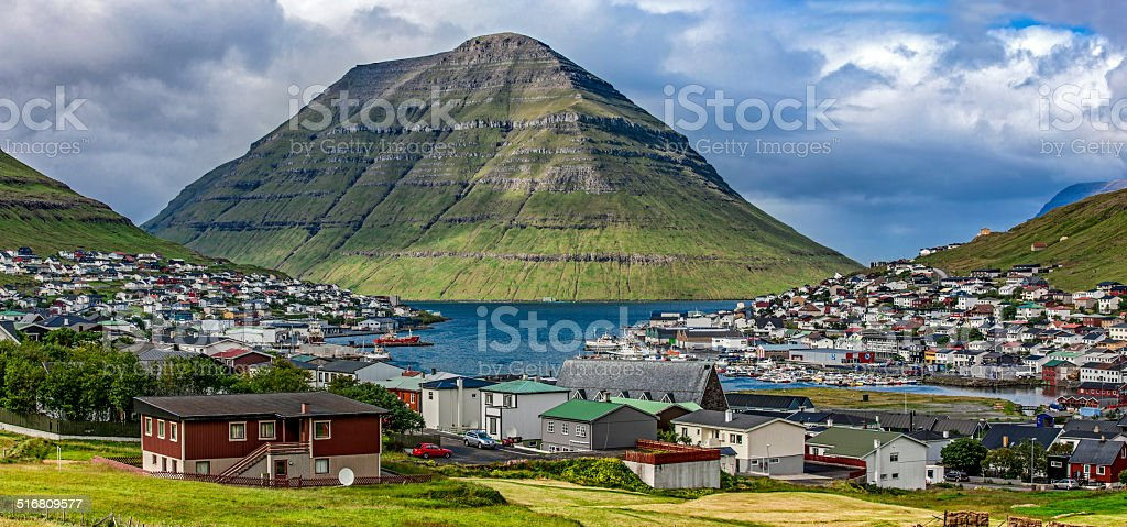 Klaksvik, Faroe Island,panoramic view stock photo