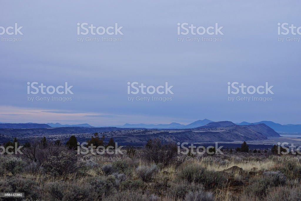 Klamath Basin's Lava Beds stock photo