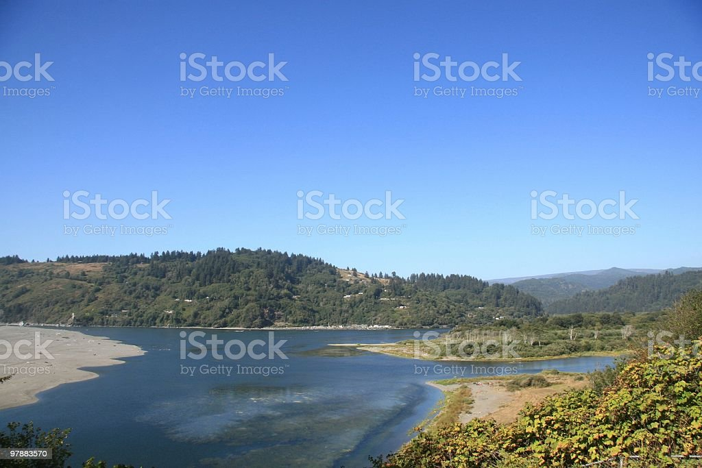 Klamath River, Northern California, Pacific Northwest, USA stock photo