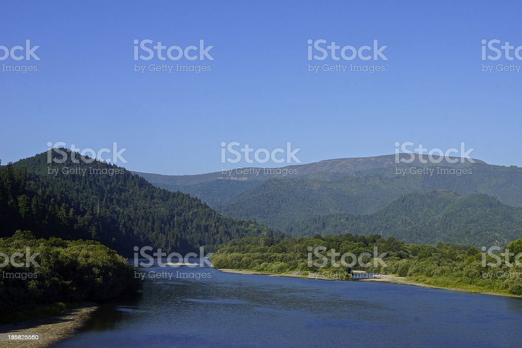 Klamath River Rare Angle stock photo