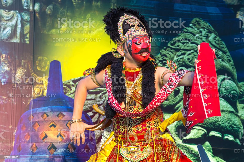 Klana Mask Dance (Javanese dance), Indonesia traditional performance stock photo