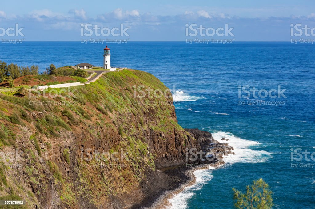 Kīlauea Lighthouse of Kauai, Hawaii stock photo