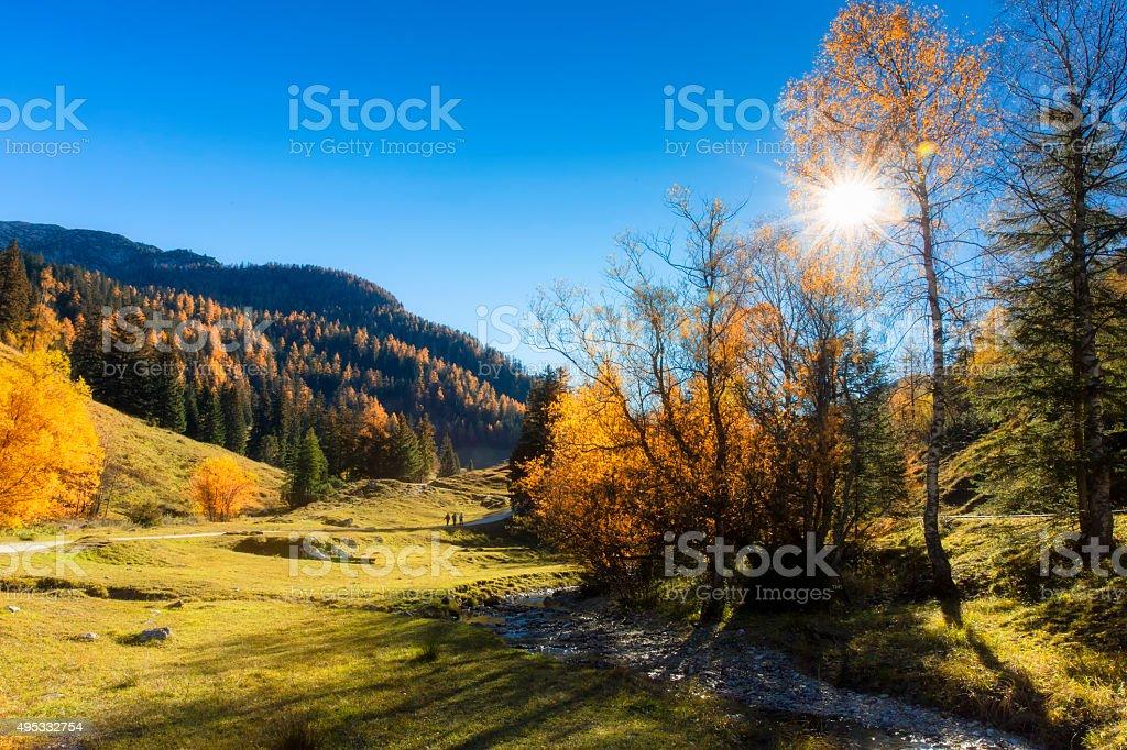 Klaustal  - Nature Reserve  Berchtesgaden stock photo