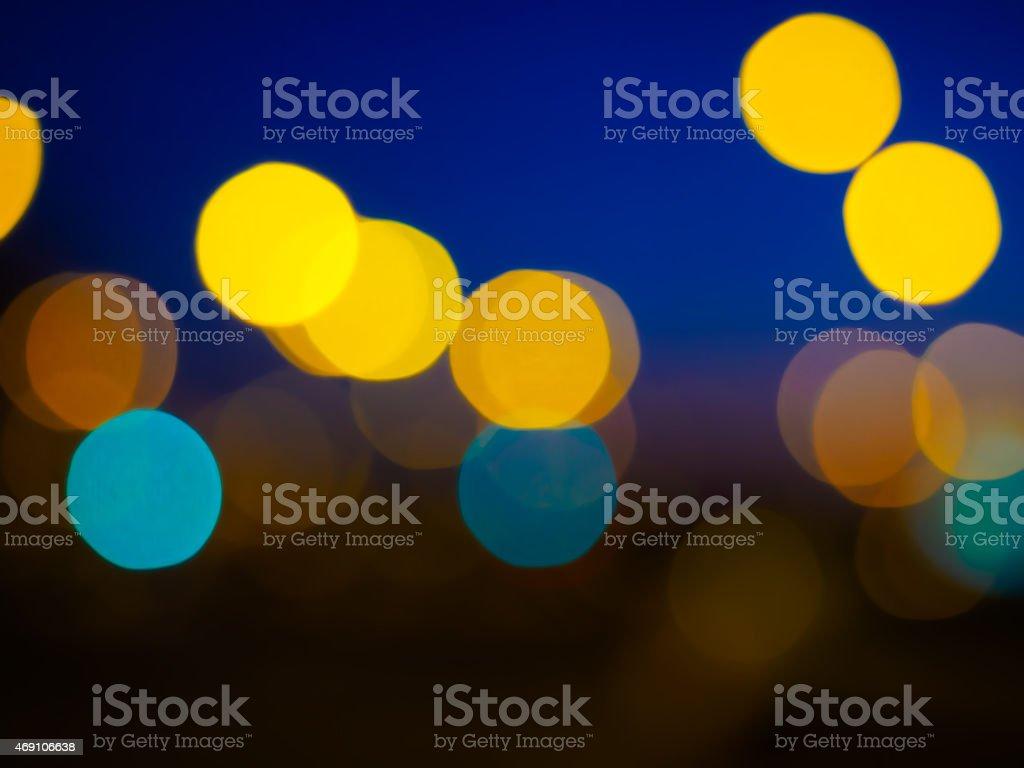 klee style defocused bokeh lights stock photo