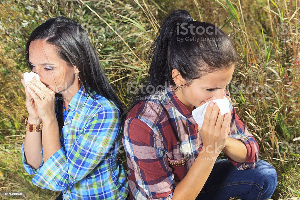 Kleenex and Allergy Woman royalty-free stock photo