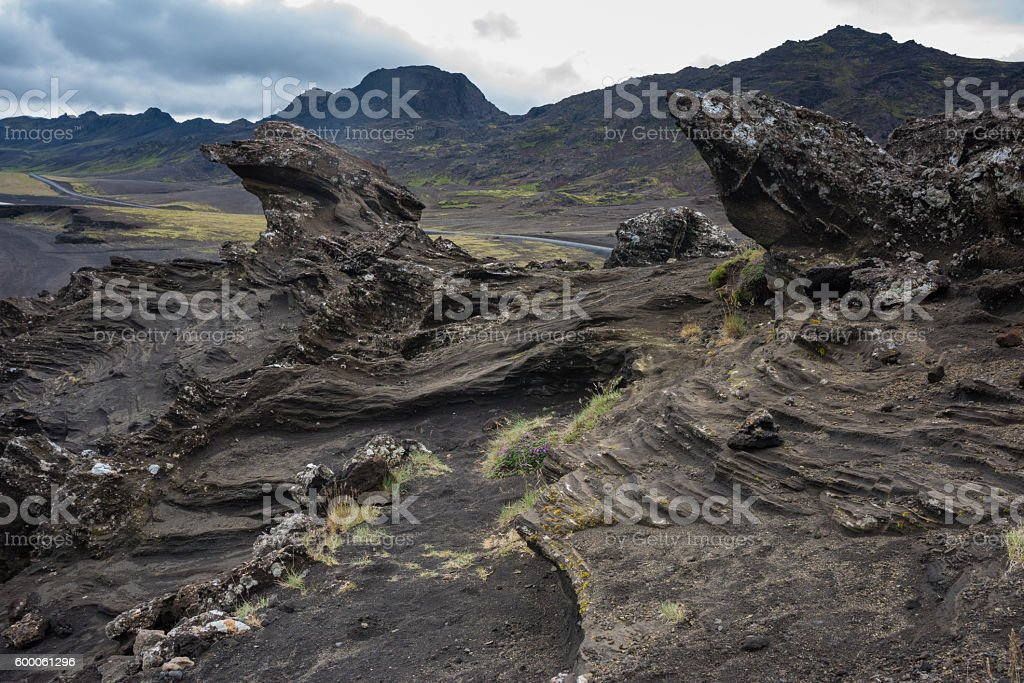 Kleifarvatn lake, Reykjanes Peninsula, Iceland stock photo